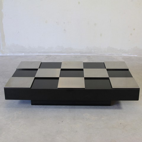 Damier Coffee Table in the style of Willy RIZZO, 1970's