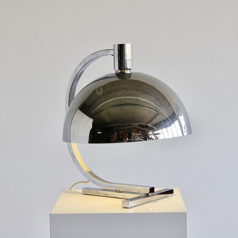 EARLY chrome plated Table Lamp by Franco ALBINI, Antonio PIVA & Franca HELG