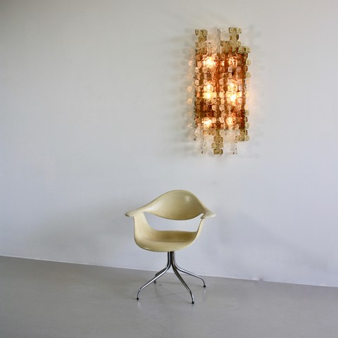 Large MAZZEGA Wall Sconce, 1970's