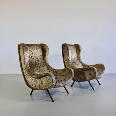 Pair of original SENOIR Armchairs by Marco ZANUSO, Arflex