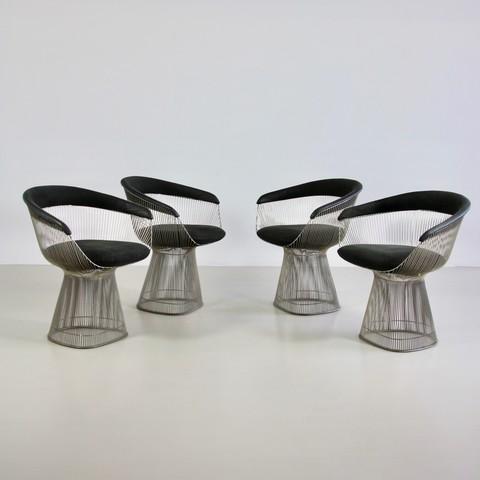 Set of 4 Arm Chairs by Warren PLATNER, Knoll International