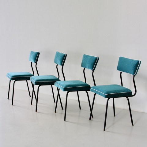 Set of four Dining Room Chairs, France 1950's