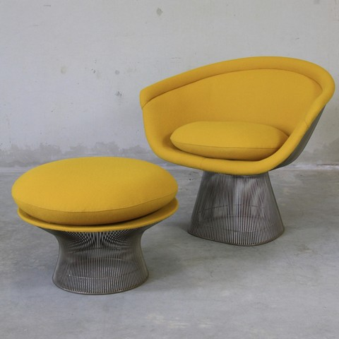 Awesome Warren Platner Lounge Chair And Foot Stool Knoll Spiritservingveterans Wood Chair Design Ideas Spiritservingveteransorg