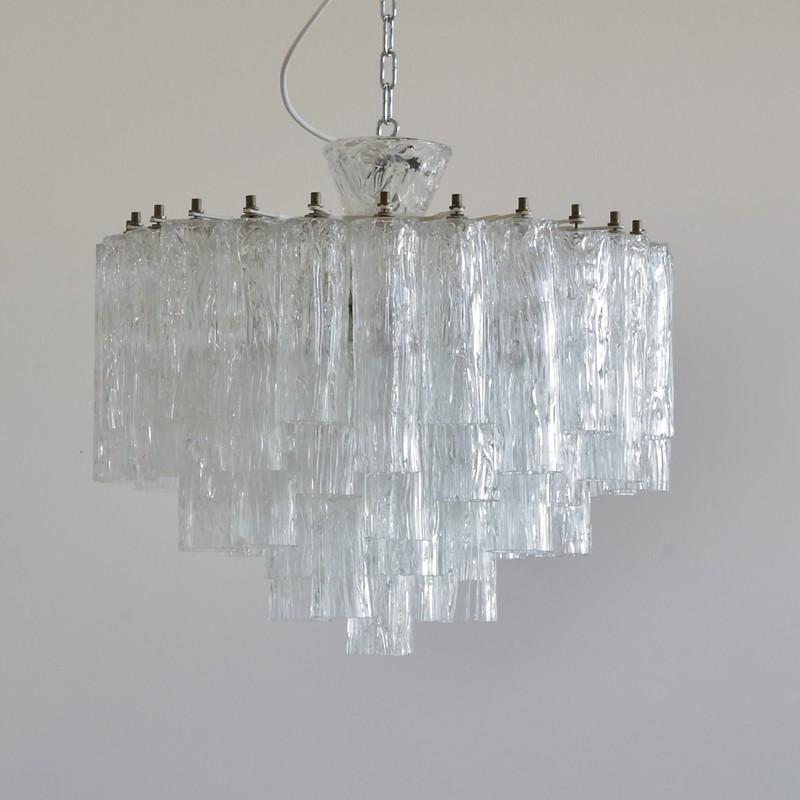 Corteccia Glass Chandelier, MURANO 1960s