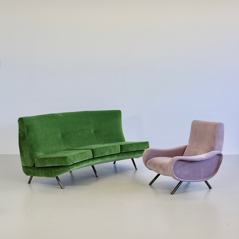 Curved Sofa by Marco Zanuso, 1950