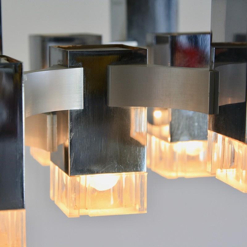 Hanging Lamp by Gaetano SCIOLARI (13 lights), 1960s
