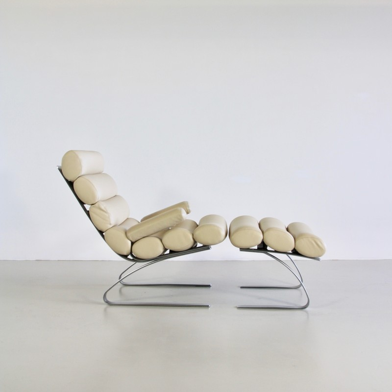 High Back Lounge Chair & Footstool by COR, 1976