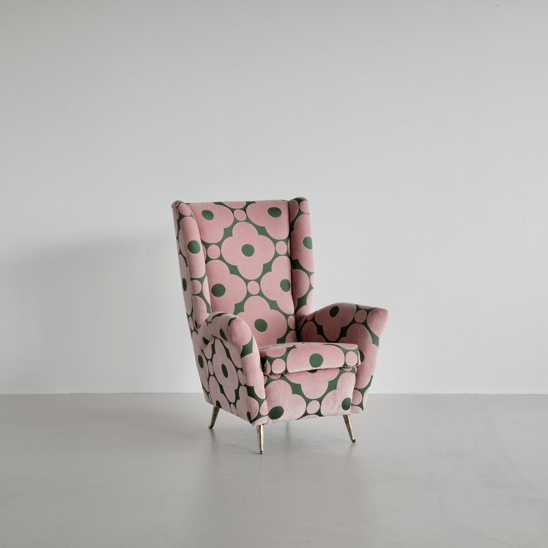 High Back Lounge Chair by I.S.A. Bergamo, attributed to Gio PONTI