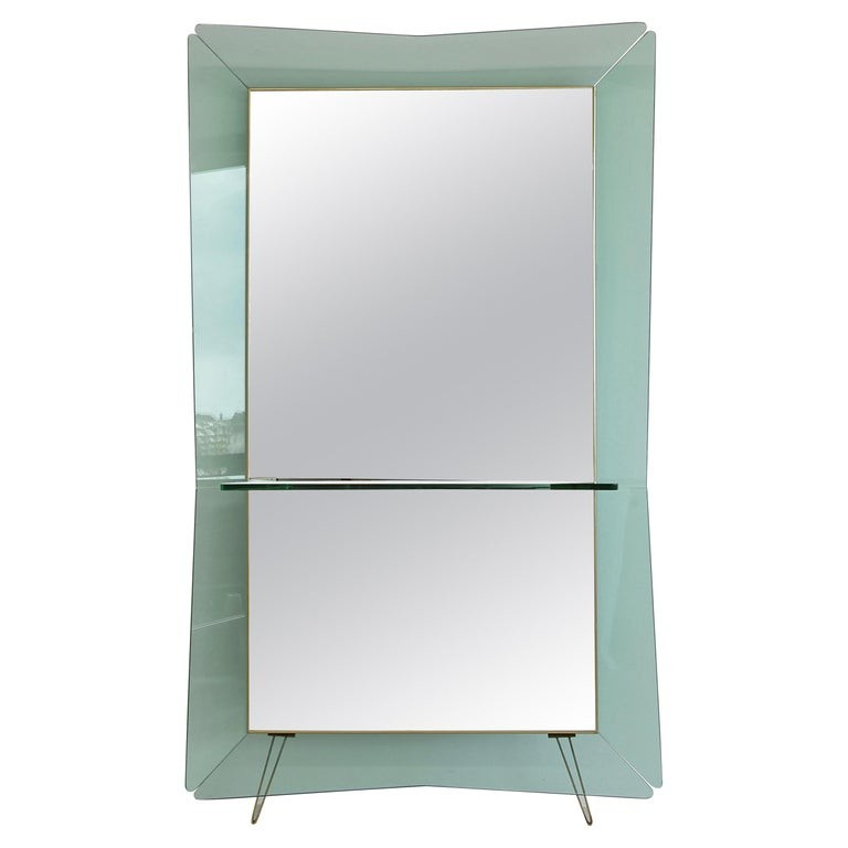 Large Floor Mirror by CRISTAL ART, Italy 1950s/ 1960s.