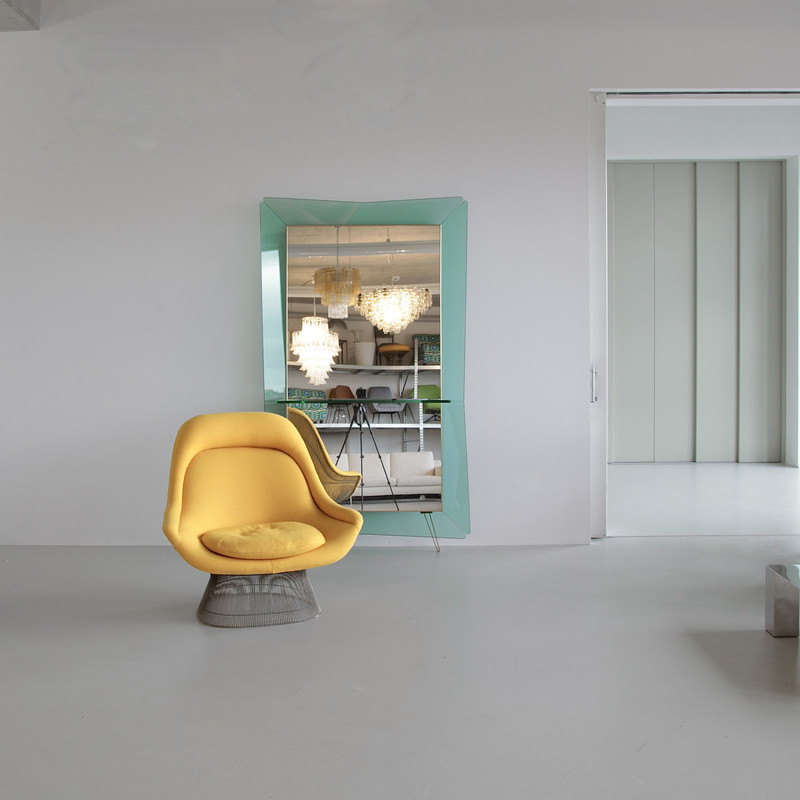 Large Floor Mirror by CRISTAL ART, Italy 1960s
