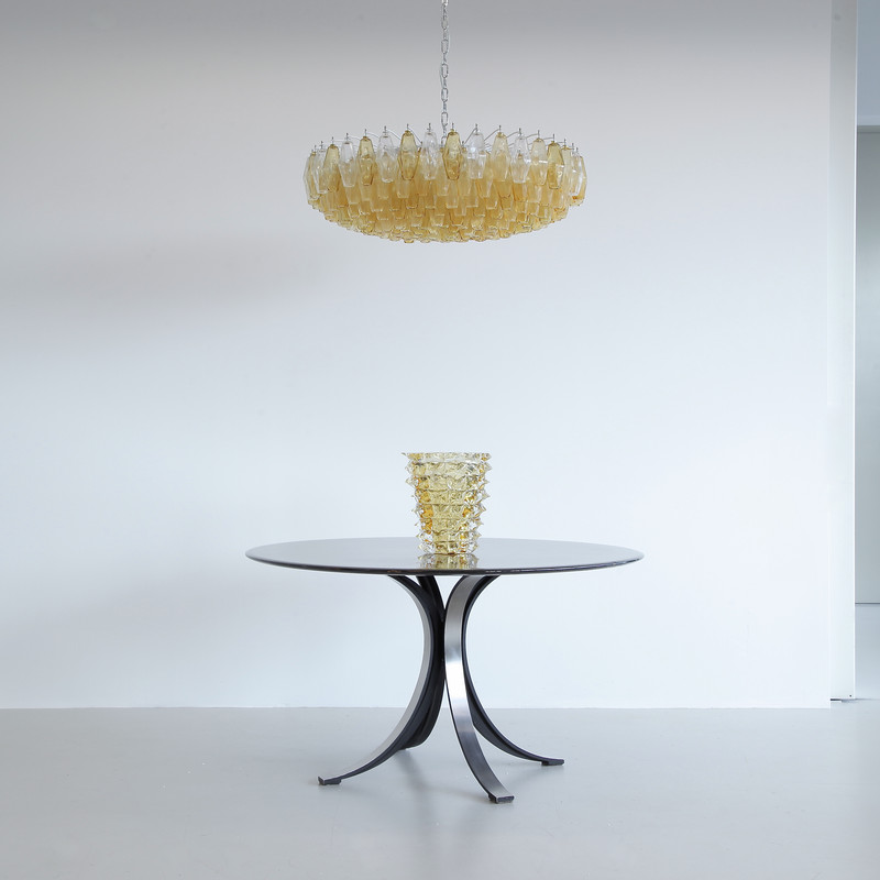 Large Polyhedron Glass Chandelier by Carlo SCARPA