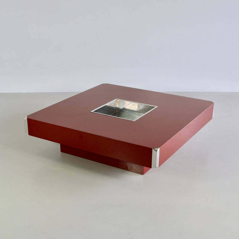 Large square Coffee Table by Willy RIZZO, 1972