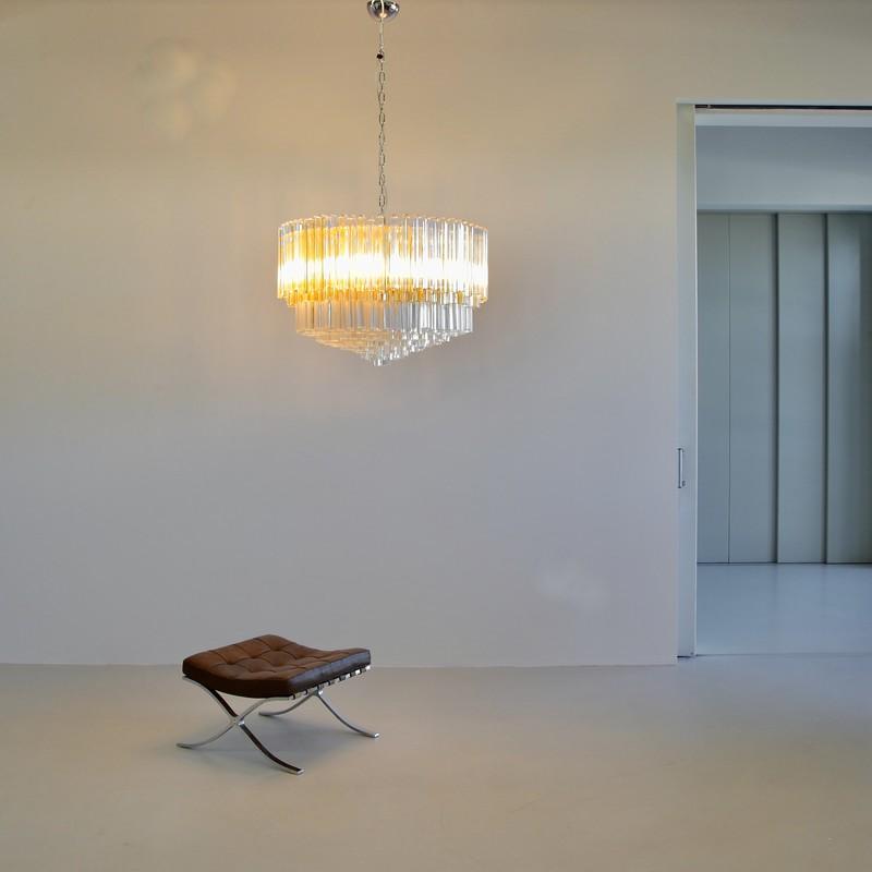 Large Trilobi Glass Chandelier, MURANO