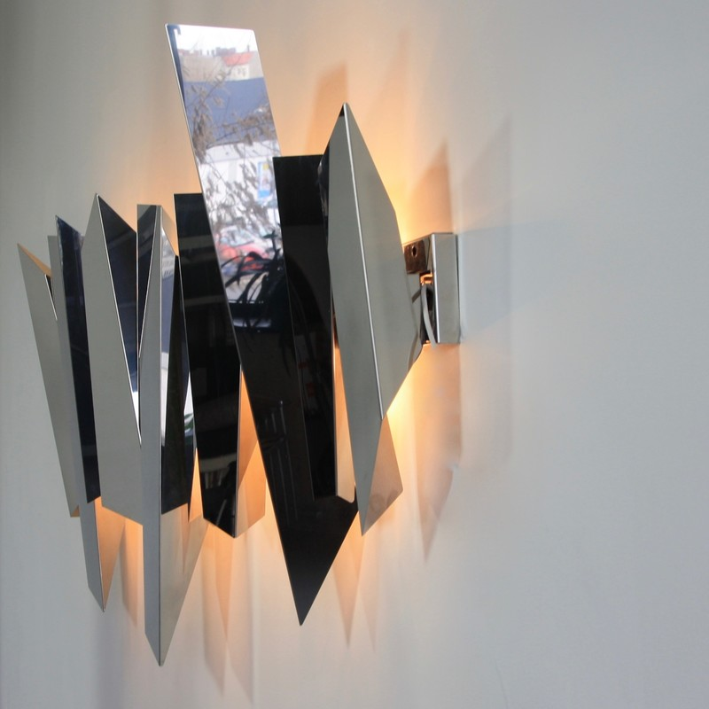 Large Wall Sconce by Mario TORREGIANI (attri), 1980