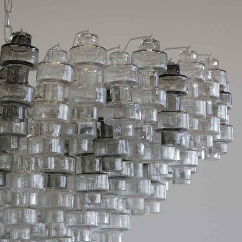 Manubri MURANO Glass Chandelier (clear/ smoke glass)
