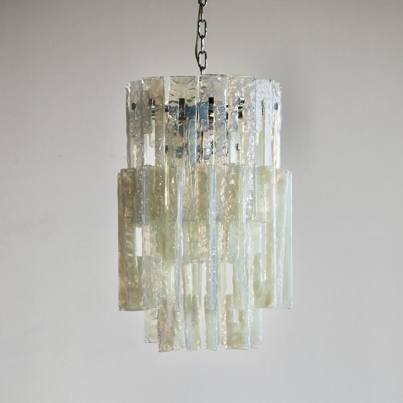 MAZZEGA Glass Chandelier, 1960