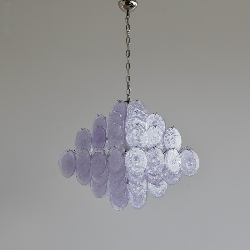 MURANO Glass Chandelier with Glass Disks