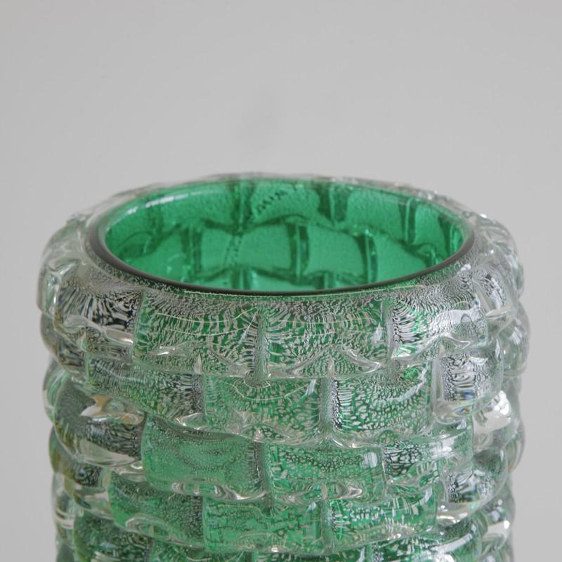 MURANO Glass Vase, Italy (green)