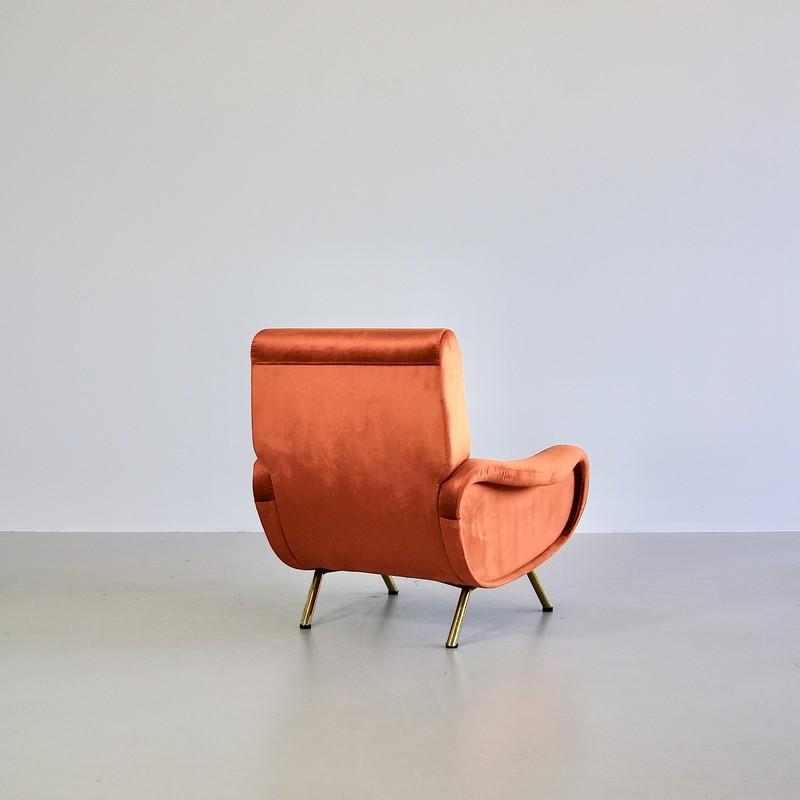 Original LADY Armchair by Marco ZANUSO, Arflex Italy (burnt orange)