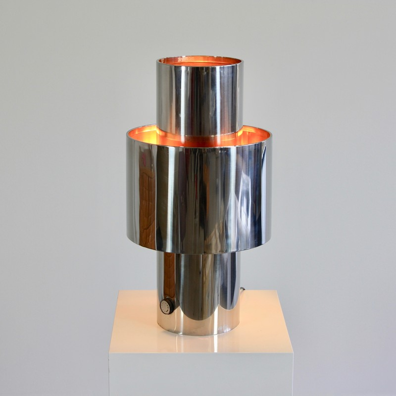 PAIR of (LAMP-RO) Table Lamps by Willy RIZZO, 1970