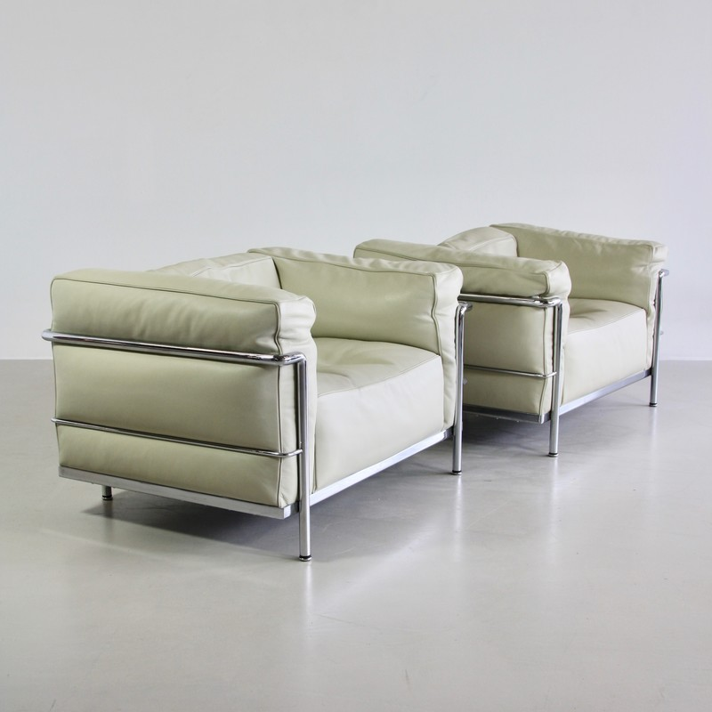 PAIR of Lounge Chairs LC3 by LE CORBUSIER, JEANNERET & PERRIAND, Cassina