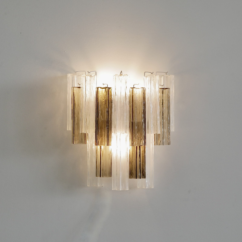 PAIR of MURANO GLASS Wall Sconces