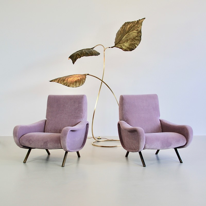 Pair of original LADY Armchairs by Marco ZANUSO, Arflex Italy