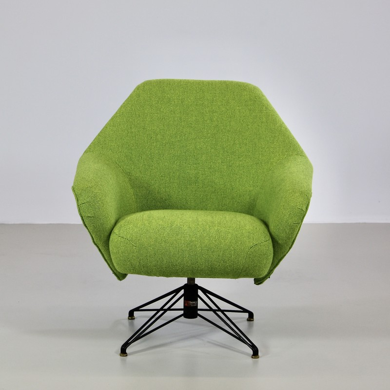 Rotating Armchair by Osvaldo BORSANI, TECNO
