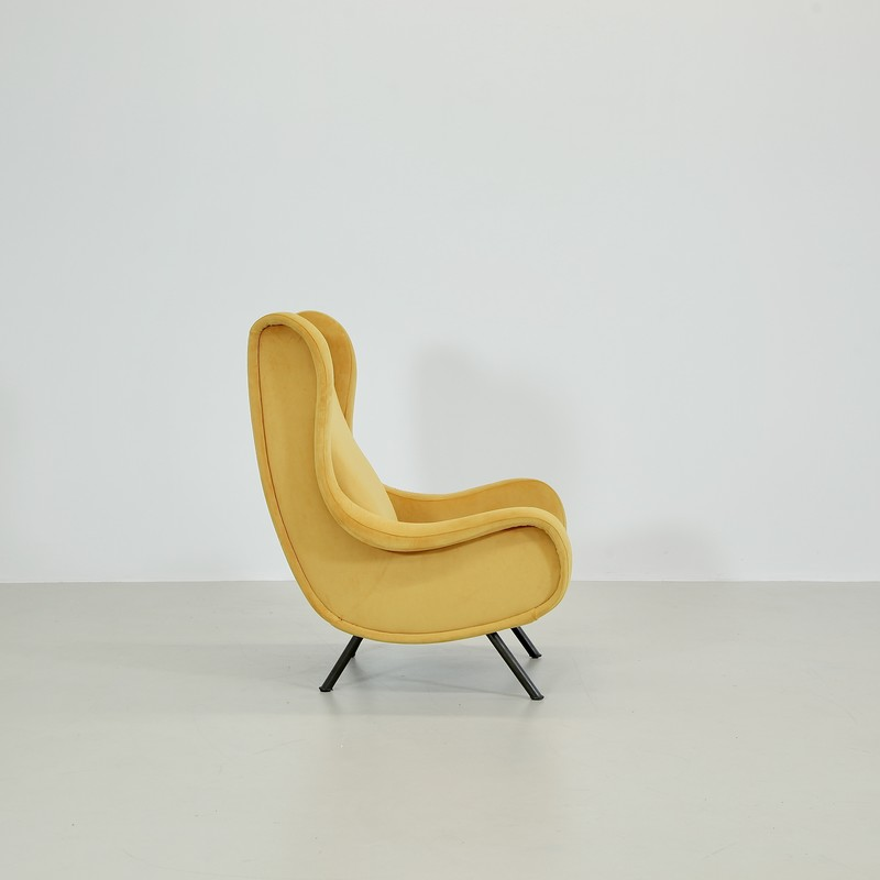 SENIOR Armchair by Marco ZANUSO, Arflex Italy (yellow velvet)