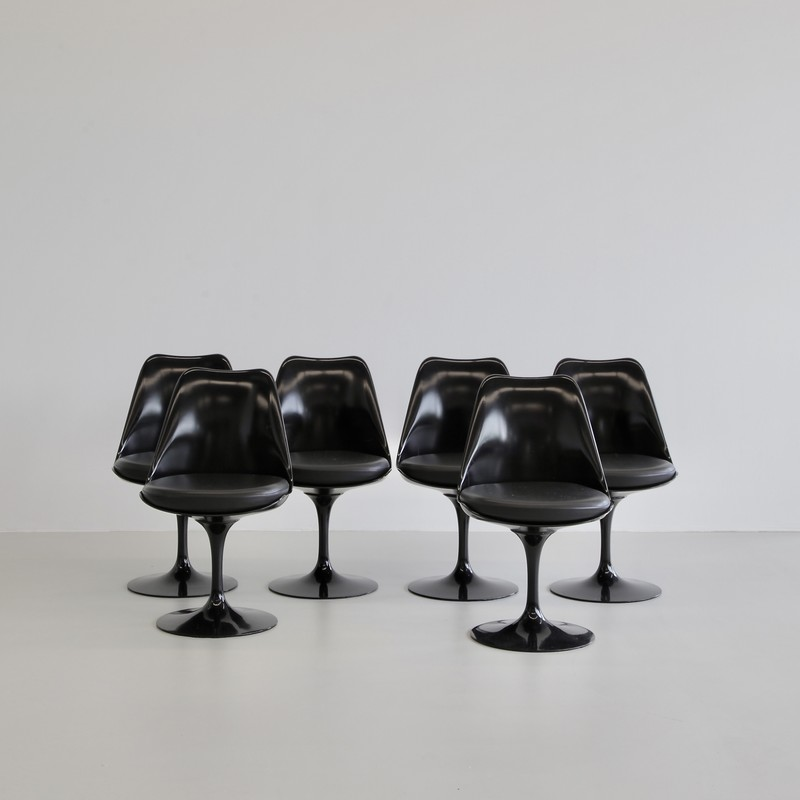 SET of 6 Eero SAARINEN revolving Tulip Chairs, Knoll International