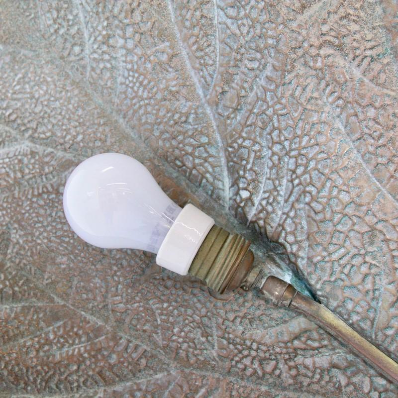 Vintage Three-Leaf Rhubarb Floor Lamp by Tommaso BARBI, 1960