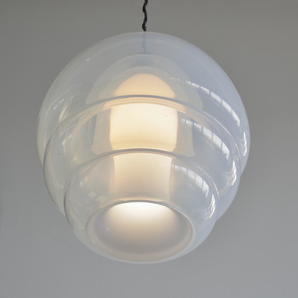Glass Pendant by Carlo NASON for MAZZEGA