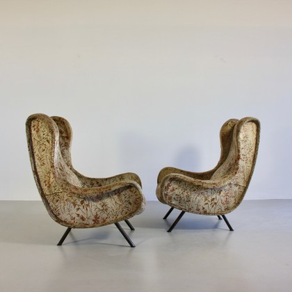 Pair of original SENOIR CHAIRS by Marco ZANUSO, Arflex