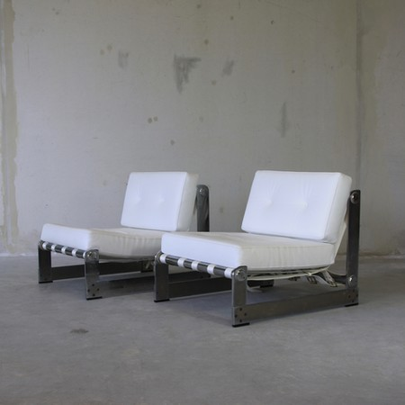 PAIR of Lounge Chairs by Pierre BOUCHEZ for AIRBORNE 1970's