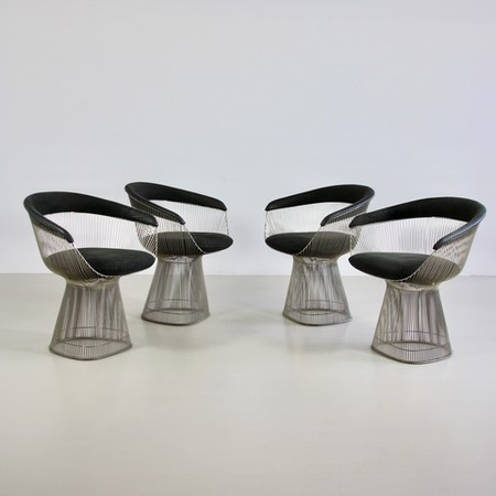 Set of 4 Arm Chairs by Warren PLATNER, Knoll International