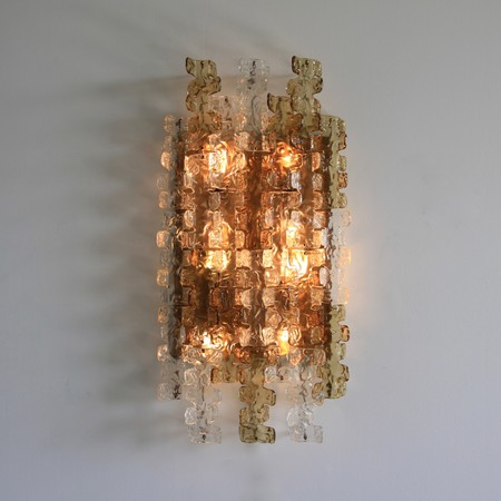 Large MAZZEGA Wall Sconce, 1970