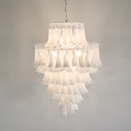 MURANO Glass Saddle Form Chandelier (seven layers)
