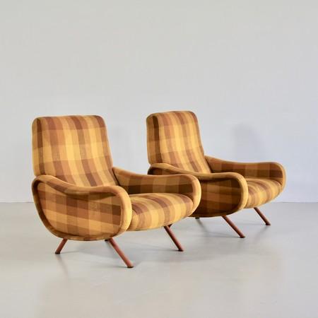 Pair of original LADY Armchairs by Marco ZANUSO, Arflex Italy