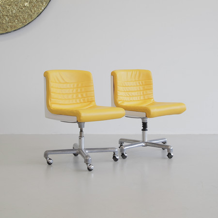 Pair of PROGRESS Office Chairs by Ettore SOTTSASS & Hans von KLIER, 1969