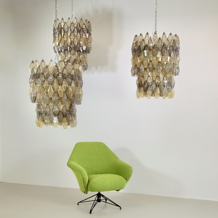 Set of Three Chandeliers by VENINI, 1960