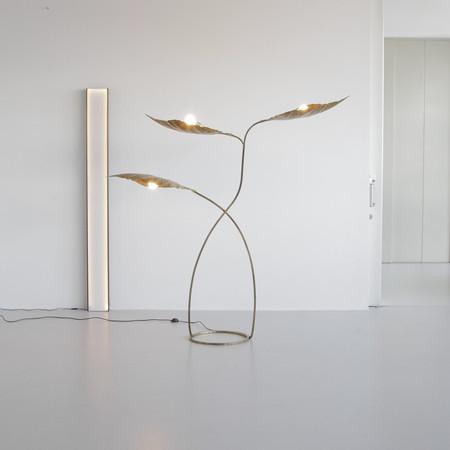 Three-Leaf Rhubarb Floor Lamp by Tommaso BARBI