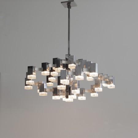 XL Size Hanging Lamp by Gaetano SCIOLARI, 1960s